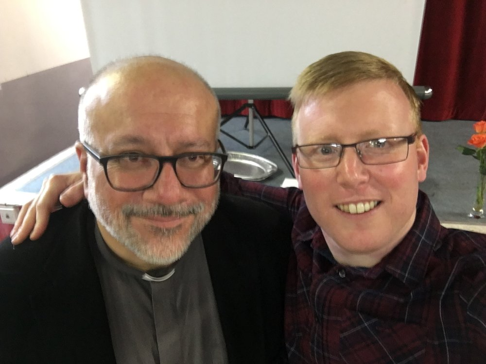 The speaker at our November breakfast was Mones Farah, from St Michael's Church, Aberystwyth. He is pictured here with our Curate, Adrian Morgan.