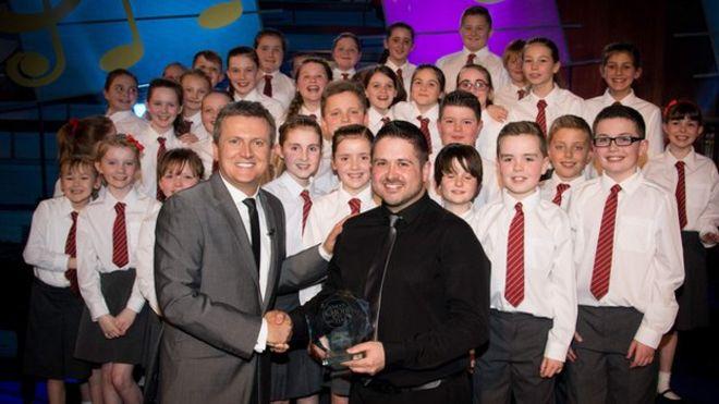 Côr Ysgol Iau Llangennech - Winners of the BBC Songs of Praise Choir of the Year Contest.