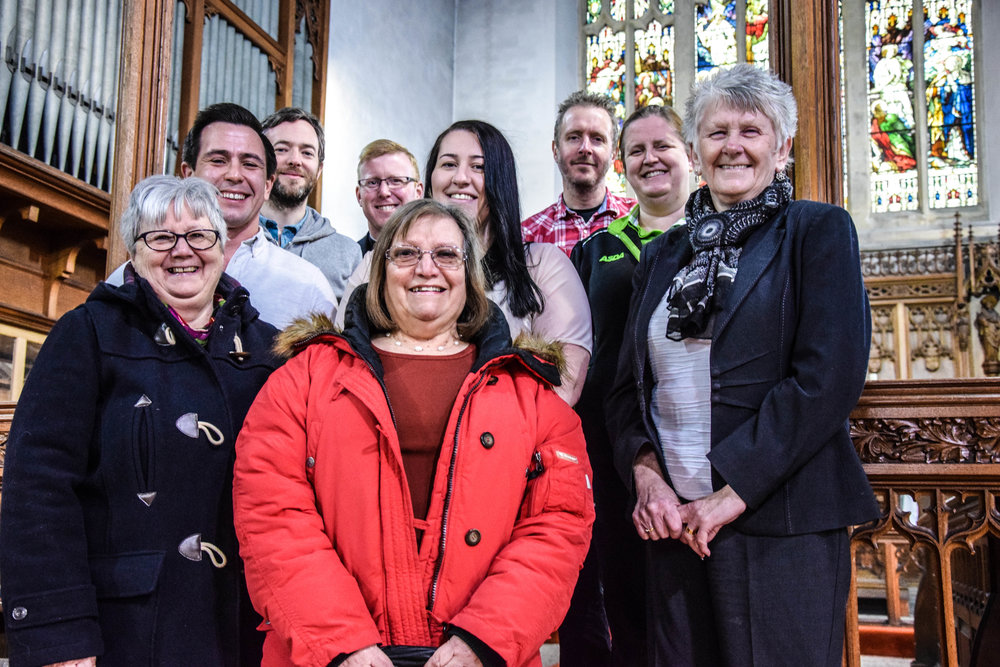 Pictured: Kathryn Lewis and Karen Evans (Gorseinon residents); Andrew Stephens (Deputy Mayor of Gorseinon), Kelly Roberts (Gorseinon Labour Candidate) and Jan Curtice (County Councillor for Penyrheol); Ronan Ruddy (Gorseinon Development Officer), Rev Dr Adrian Morgan (Curate of St Catherine's Church), Adam Benney (Community Lives Consortium) and Jaynne Davies (Asda Community Colleague).
