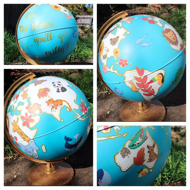 And I'm still painting old globes!