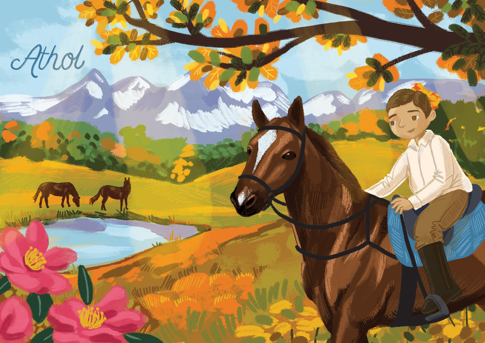 athol and horses illustration- web