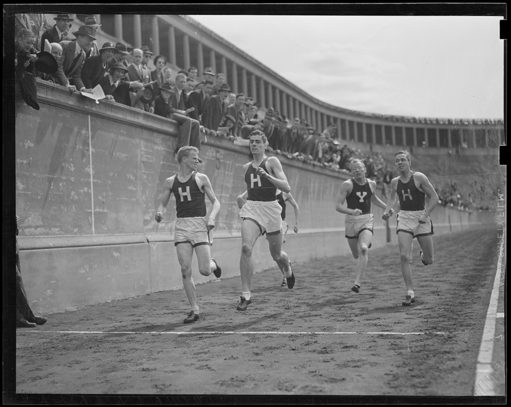 Harvard–Yale Meet at Stadium, by Boston Public Library