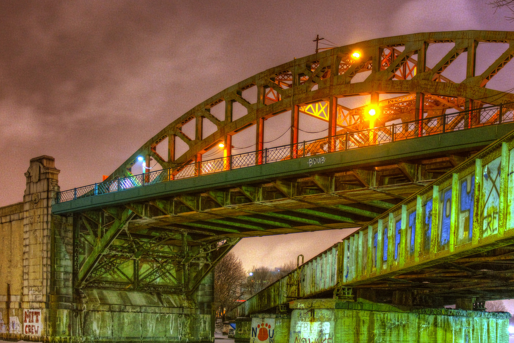 BU Bridge at Night, by EandJsFilmCrew