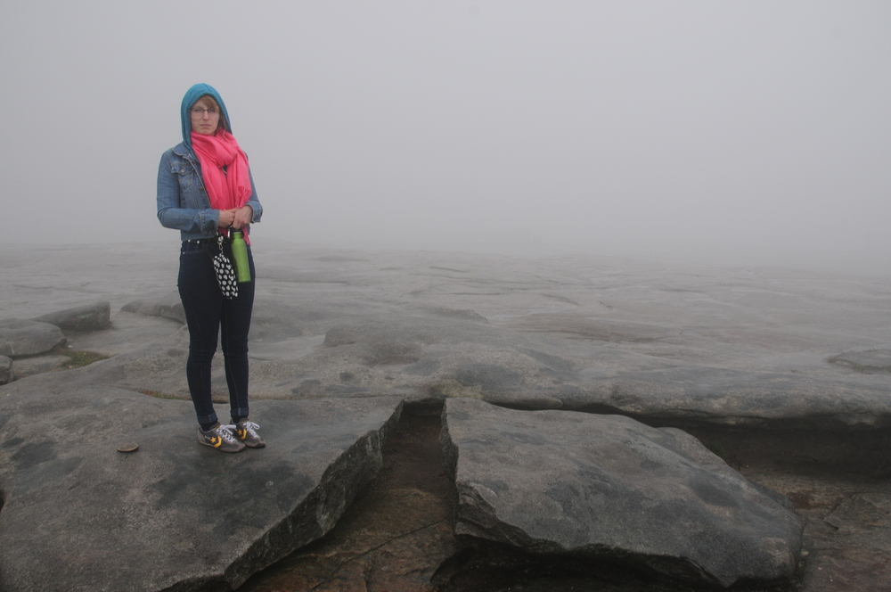 We also visited a distant planet last time we were on the road - just kidding this is the top of Stone Mountain.