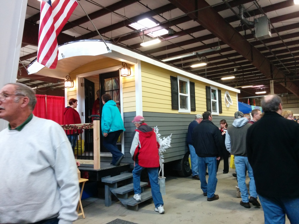 "The Tiny Home/Vardo style ""camper"" at the Springfield, MA RV Show."