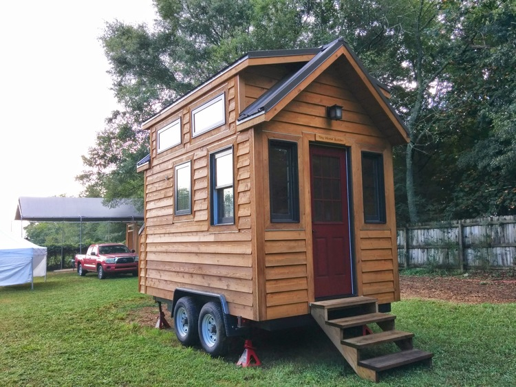 "The Tiny Home Builders ""Tinier Living"" model, so cute and spacious for just 14 feet!"