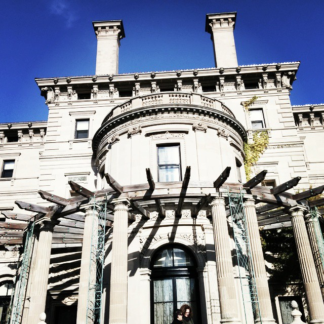 The opposite of #small. Matt and I went to the Breakers in Newport for a tour. I liked the kitchen the best. 21 foot long stove. #newport #newportmansions #mansion #stone #architecture #gildedage #Vanderbilt #summercottages