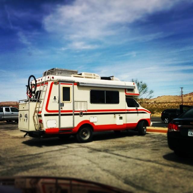 I don't even remember where we saw it, but look at this awesome #adventuremobile ! #van #camper #vanlife #campervan #roadtrip #rv #retro #vintagecamper #vintage #travel #somewhere @polerstuff