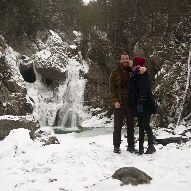 On this day last year Matt took me to the tallest waterfall in MA, we ate pizza and explored and went to an art museum. This year we're stuck inside because of a big snowstorm, but we're getting papusas so it's all good. I'm 24 today and it's pretty great so far. Can't believe I get to spend everyday with my partner and best friend :D That's really cheesy but it's true 😍 #birthday #happybirthday #love #1126 #snow #snowday
