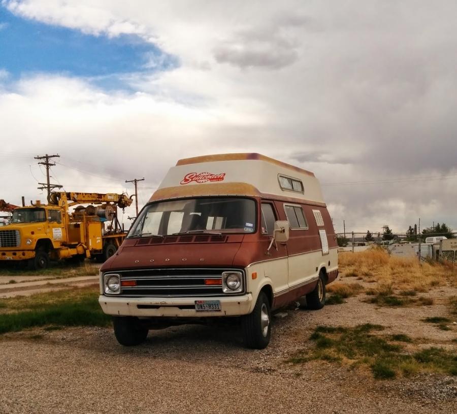This cool van was seen somewhere in Carlsbad, NM.