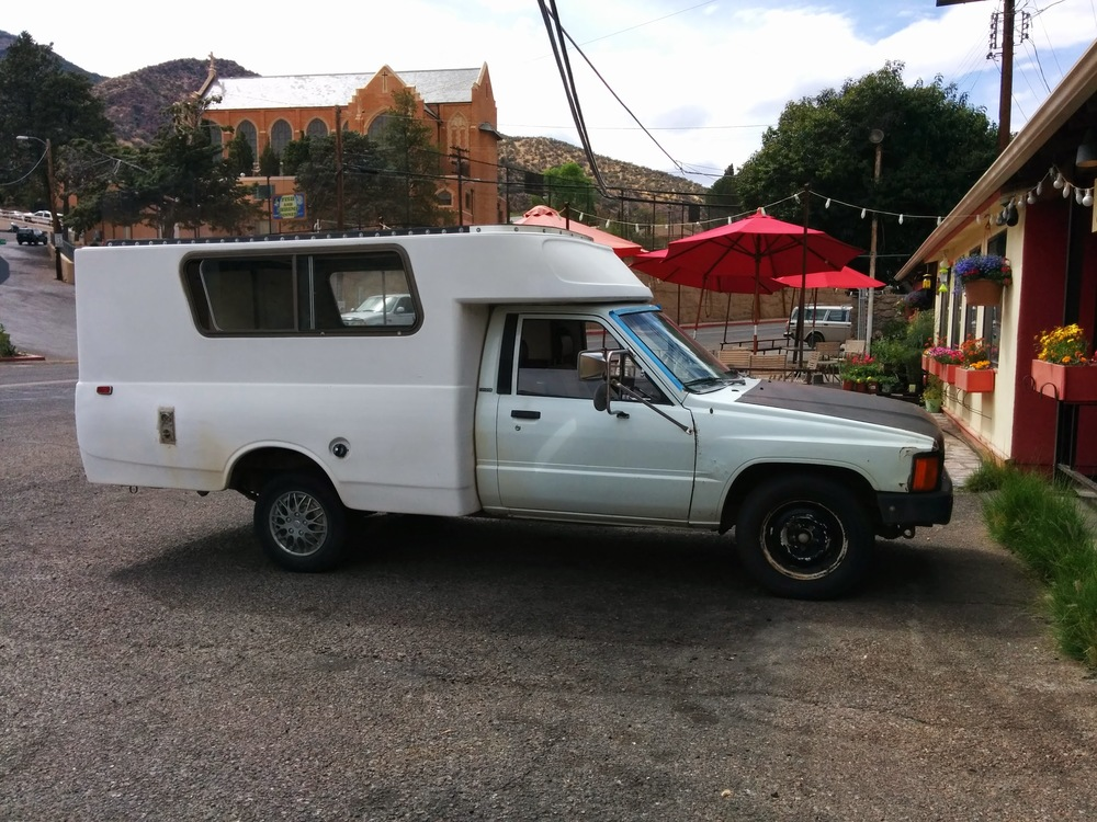 We spotted this cool custom conversion outside of a cafe in Bisbee, AZ.