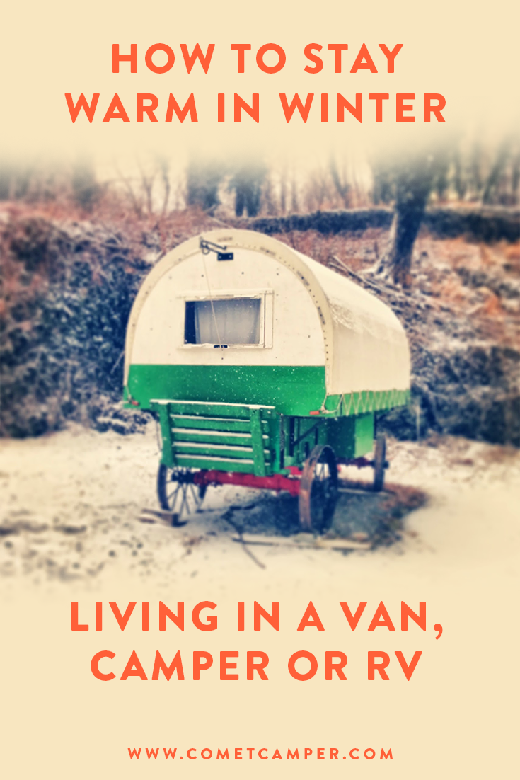 winter in trailer van or rv