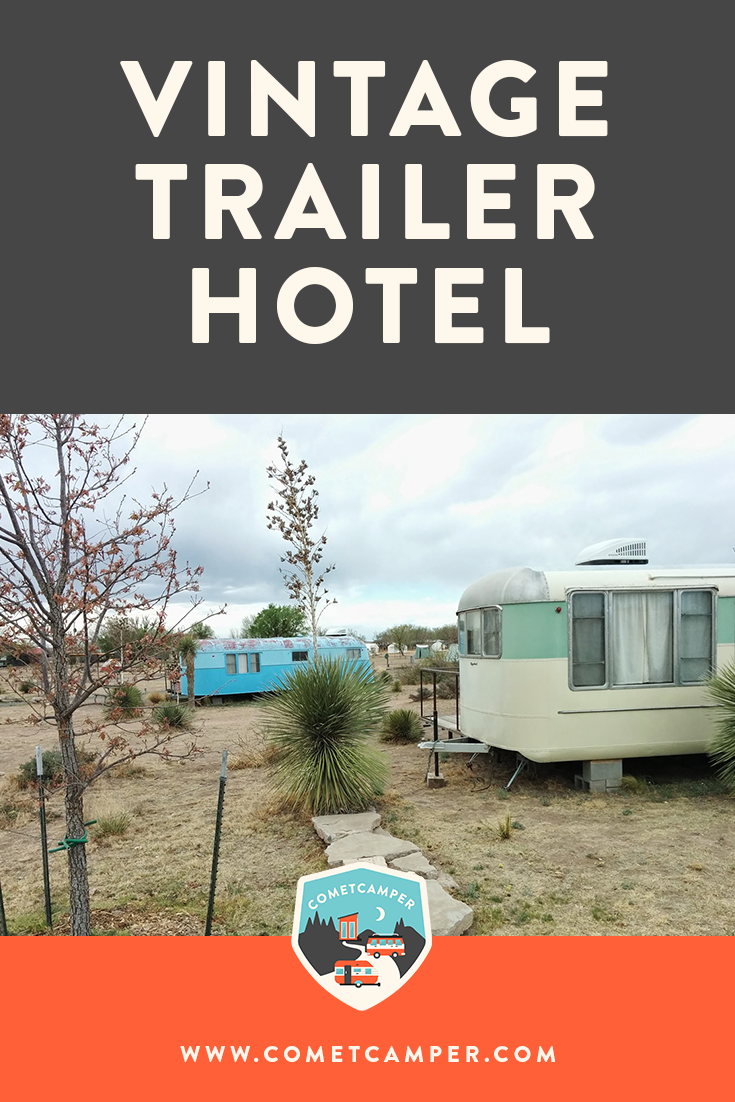 Travel guide to El Cosmico in Marfa, Texas! This hotel of vintage trailers is such a fun tiny living experience set in beautiful Texas. Check out the full feature!