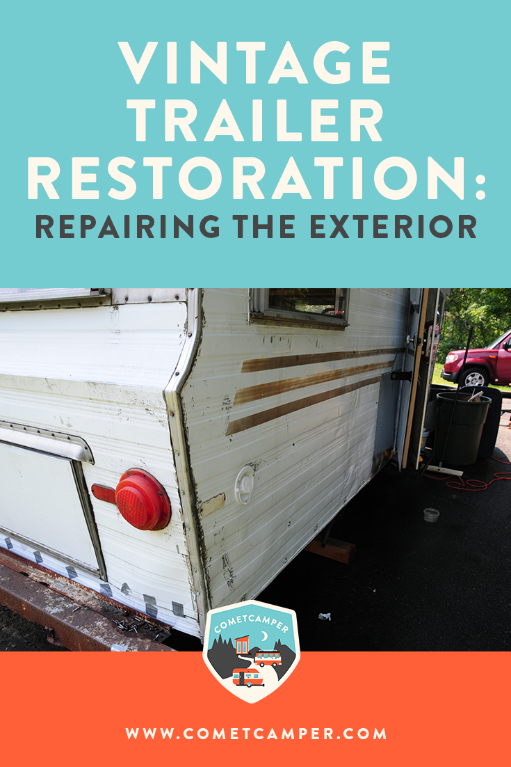 So you bought a vintage camper, but you need to do a lot of changes! Here's exactly how to restore and repair your vintage camper exterior.