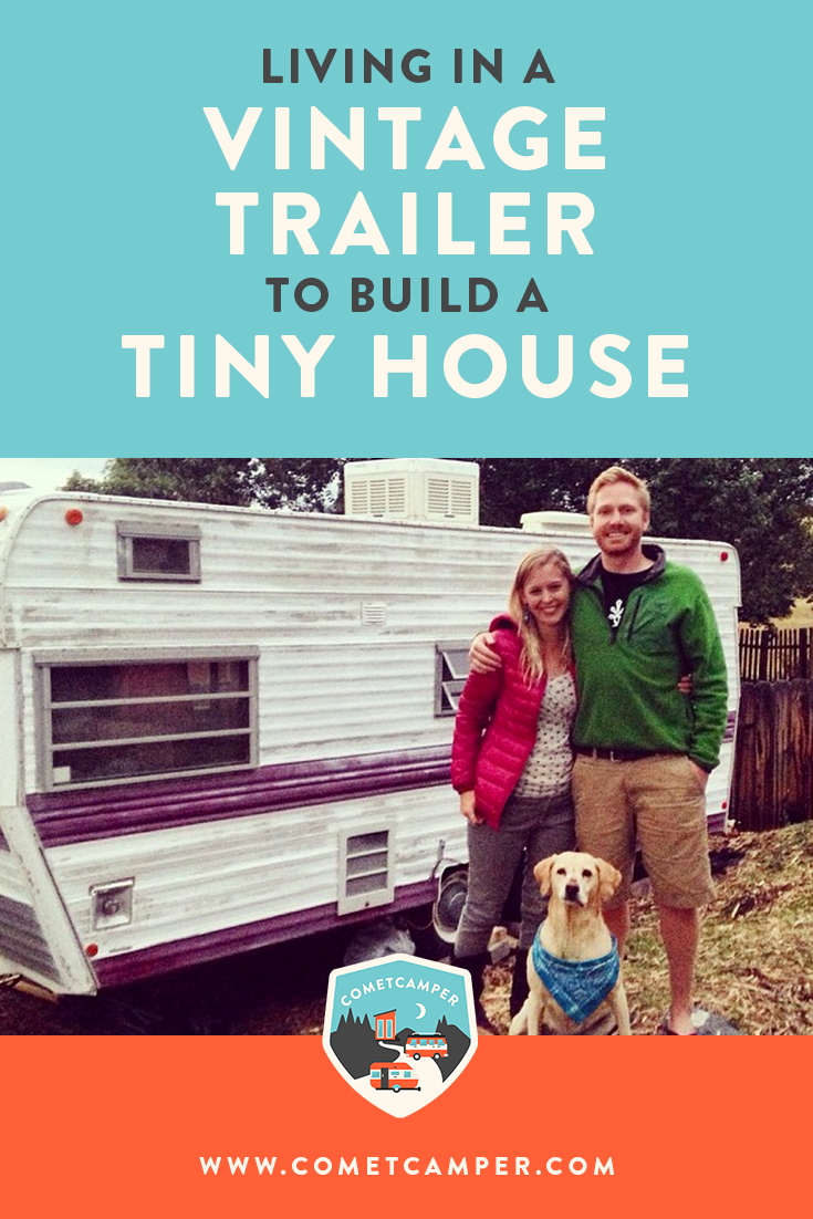 What's it like to live in a vintage trailer while you build a tiny house? Find out how this couple is doing exactly that!