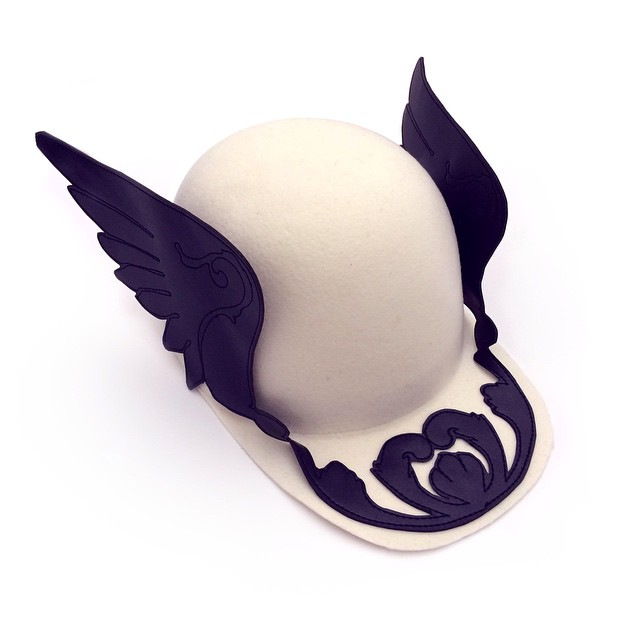 A New pair of wings ... #ARCADIA #aw15 ... #francescoballestrazzi #millinery #hatspiration #fashion #style #stylish #love #me #cute #photooftheday  #beauty #beautiful #instagood #design #wings #black #white