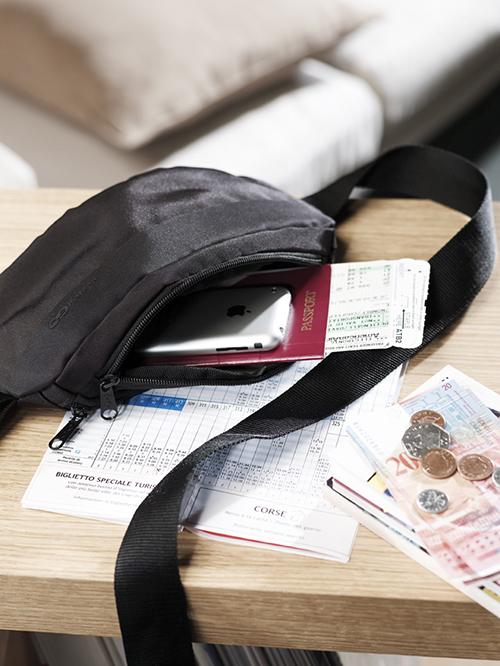moneybelt with passport