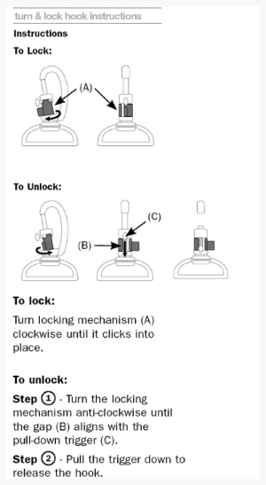 Turn and Lock Security Hook Instructions