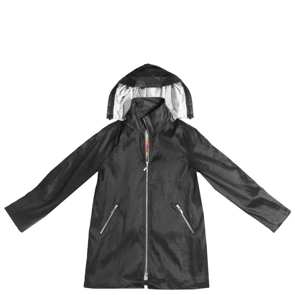 Black Gabby Mycra Pac Raincoat