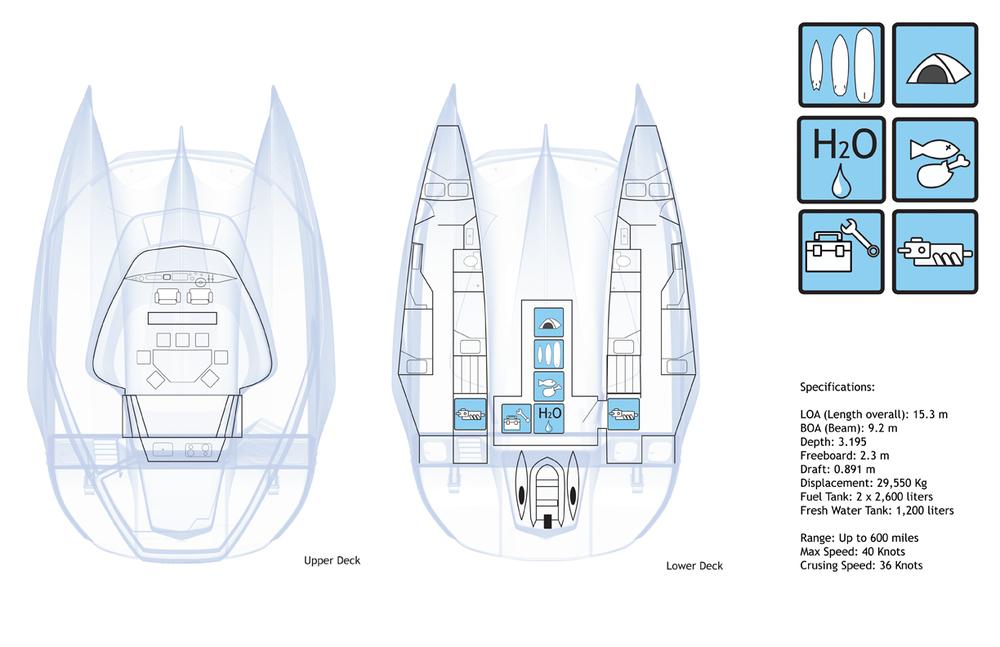 Utöva 50' Trimaran explorer vessel