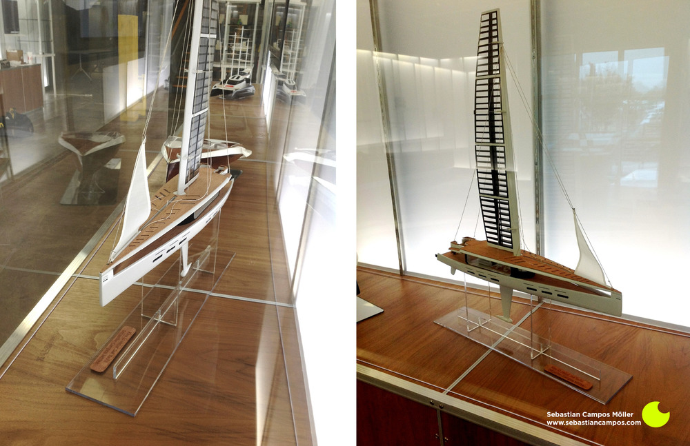 Kira scale model in SCAD's Industrial Design Department Gallery. 2012