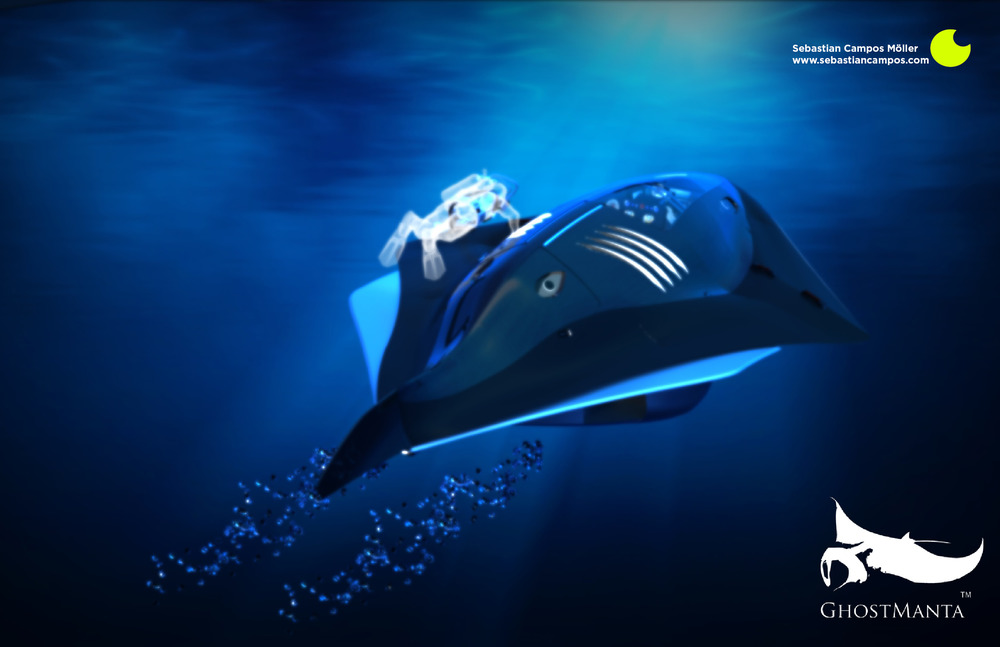 Ghost Manta Research Submarine by Sebastian Campos and Kaan