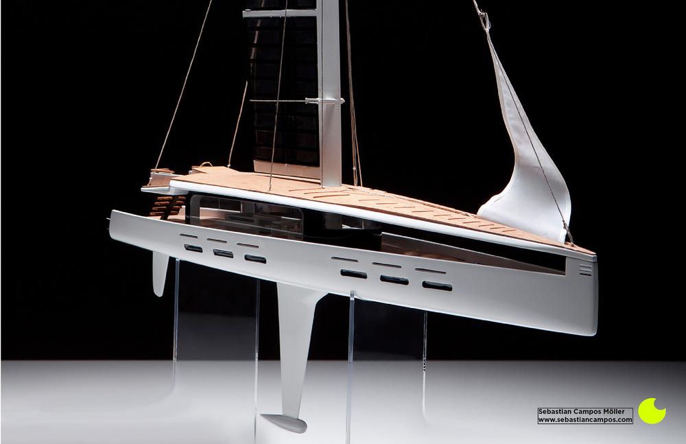 Kira Hybrid Sail Yacht Model by Sebastian Campos