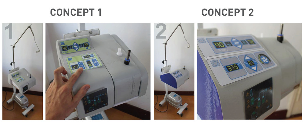 Multiple concepts for the new CPAP form and interface. Images courtesy MTTS.