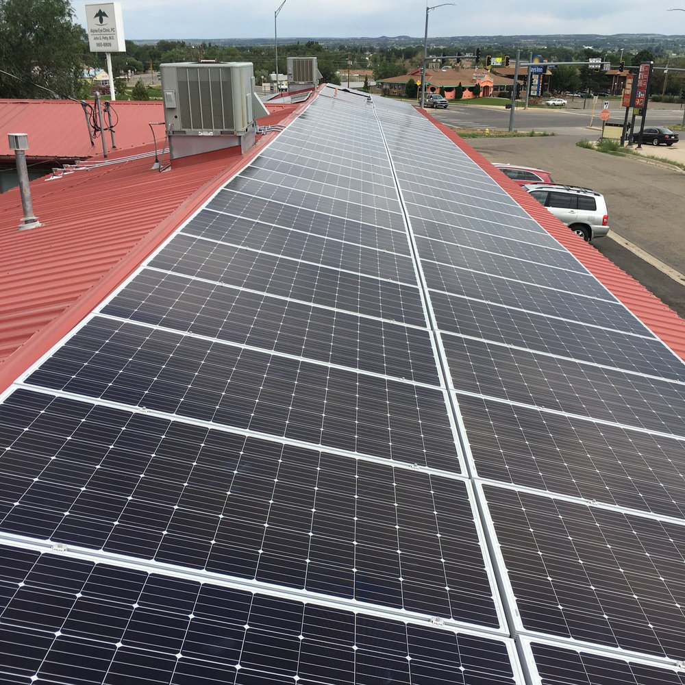 Commercial solar system in Cortez, Colorado