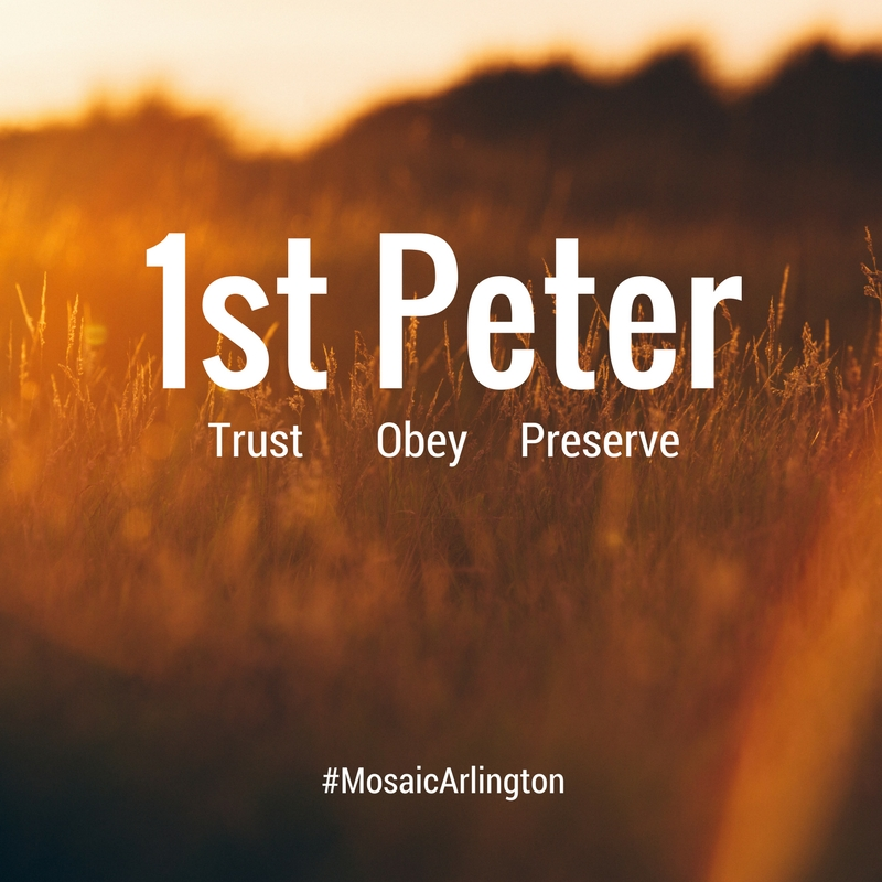 1 Peter - Trust. Obey. Preserve.  ||  September - November 2014