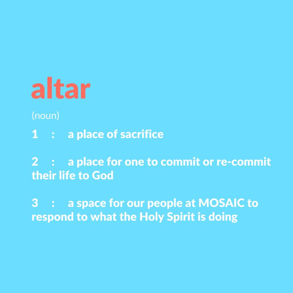 Altar, A Ministry of Prayer