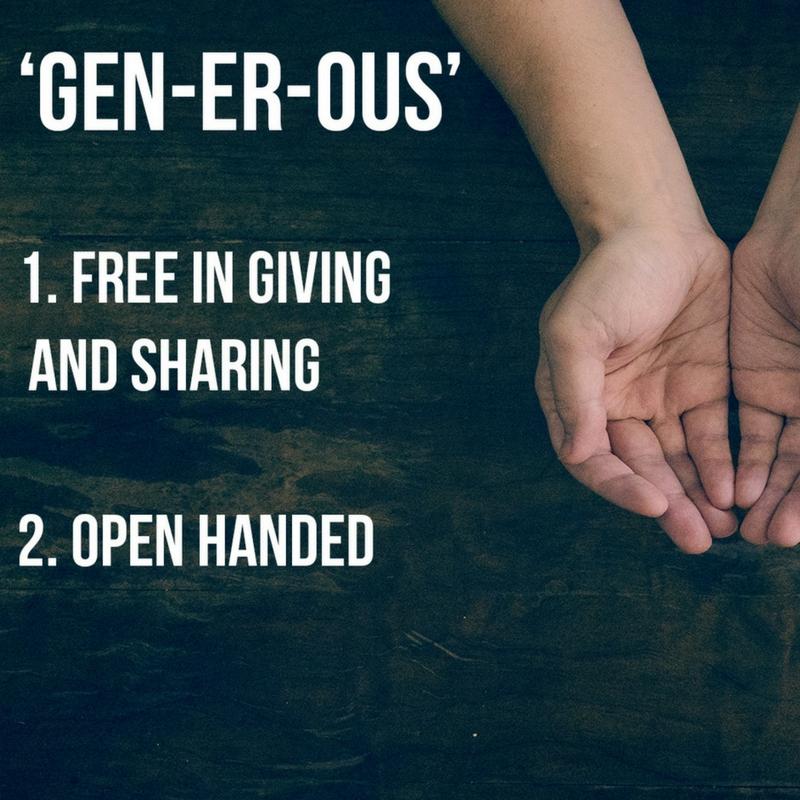 Generous || November 2017