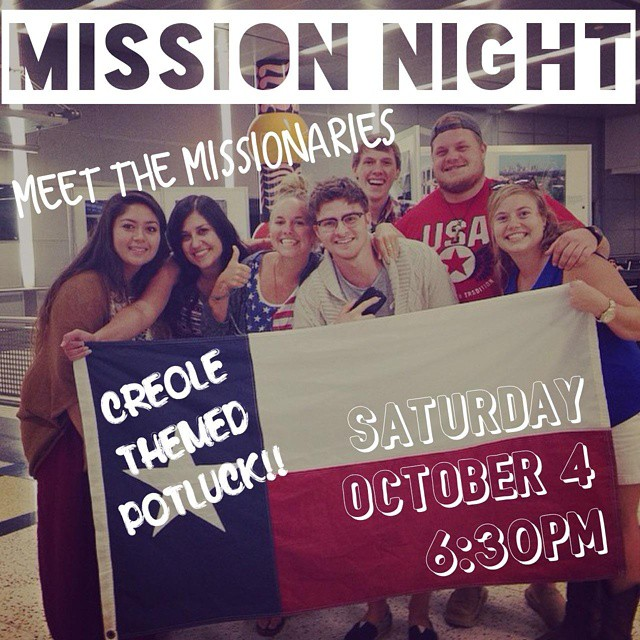Nithing to do on this Saturday night? Come on down to our mission night for community and fellowship! #ltmissions #missionarylife #Houston