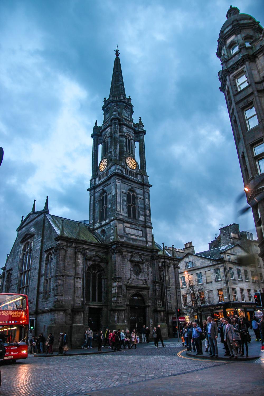 Blue Hour in Edinburgh, Scotland