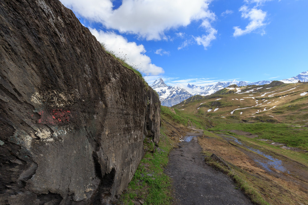 Trail Flashings on the way to Grindelwald