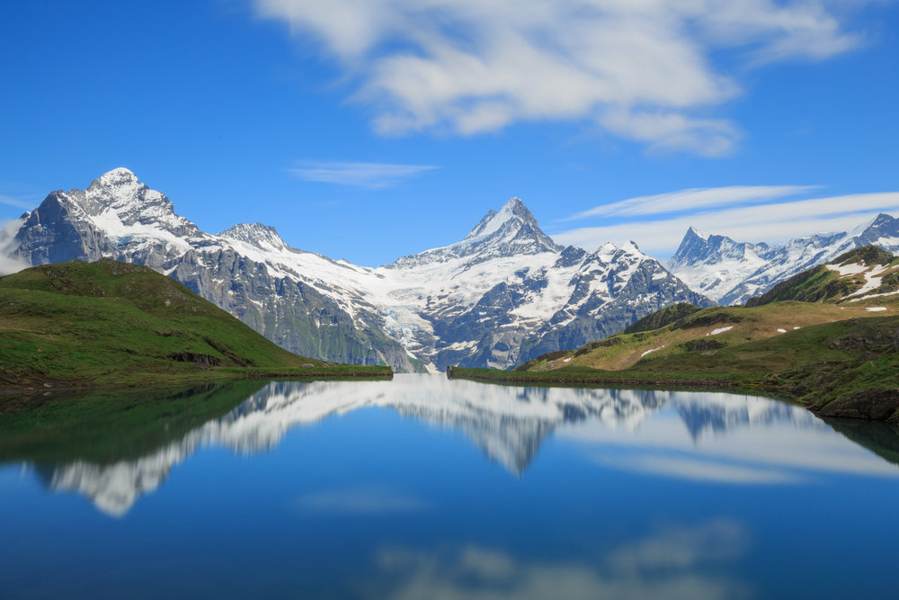 Lake Bachalpsee with the Scherckhorn in the background