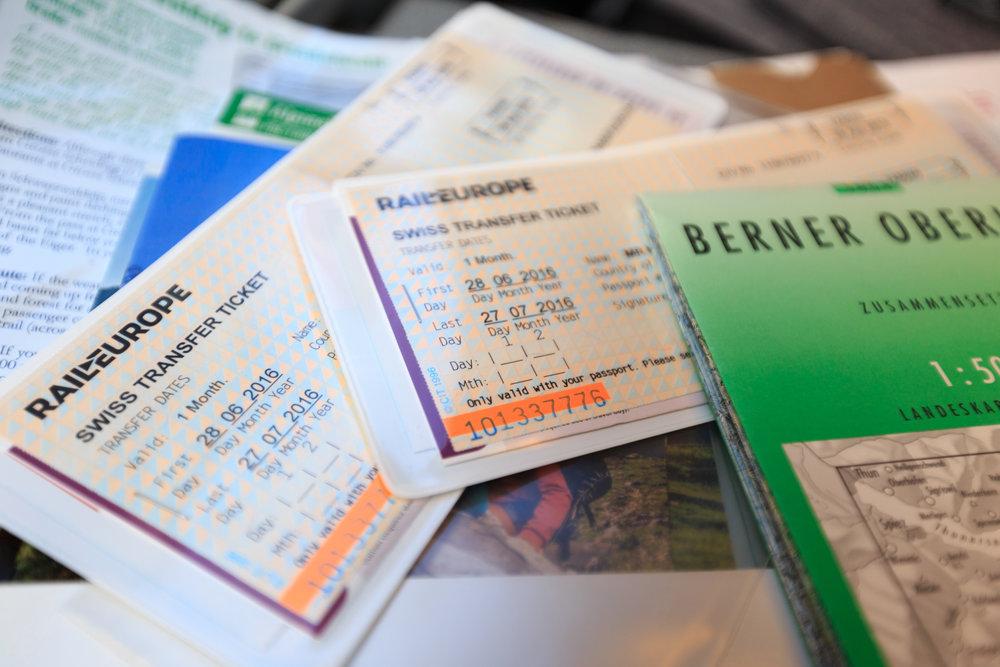 Swiss Rail Tickets out of Zürich