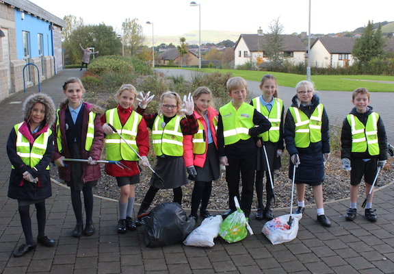 The Green Team litter pickers.