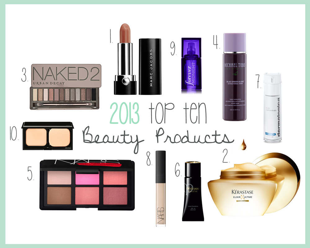 2013 Top Ten Beauty Products