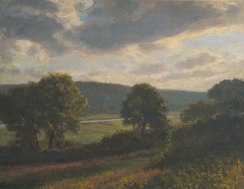 Estate Marsh View, Oil on linen, 24x30 inches.