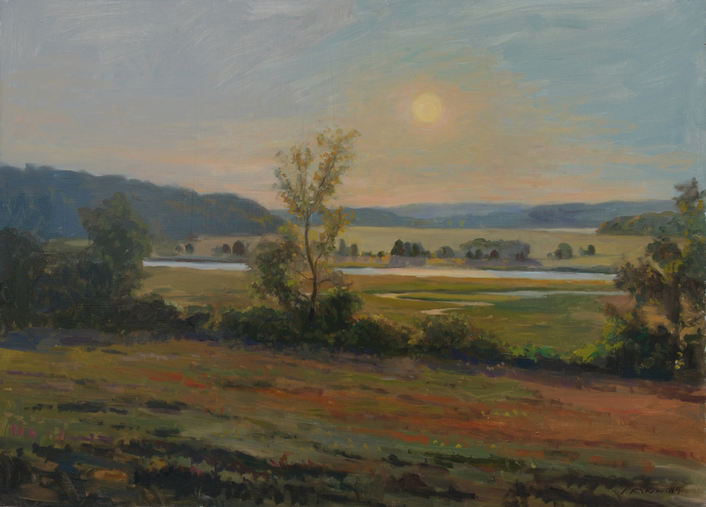 Marsh under low Sun, Oil on canvas, 18x24 inches. [sold]