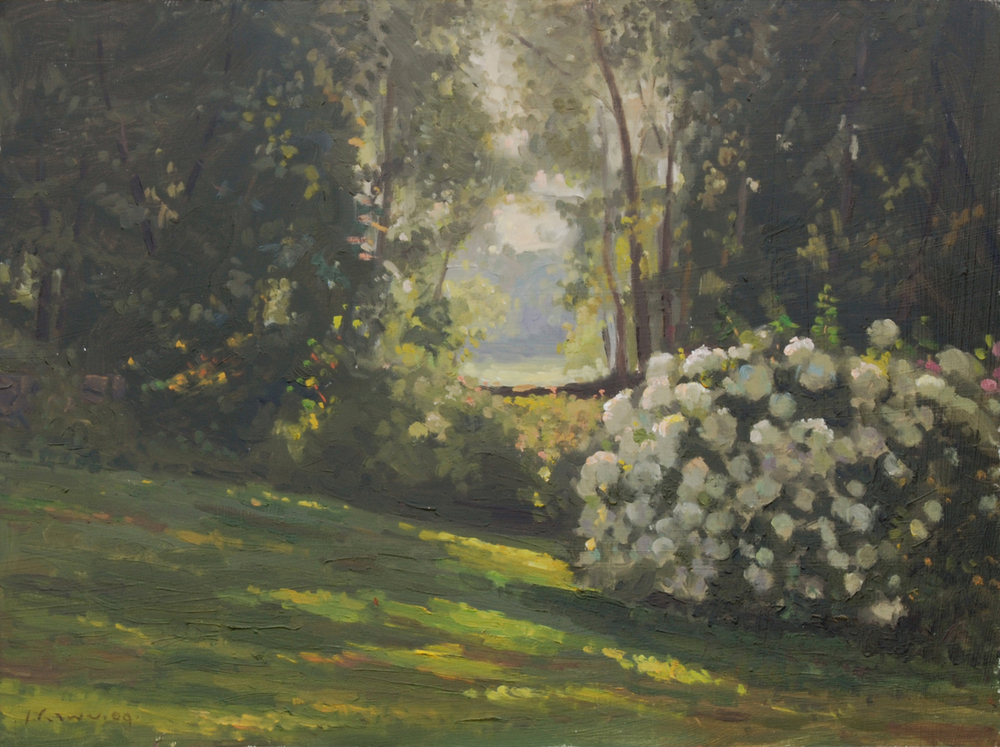 Backyard, Oil on board, 12x16 inches. [sold]