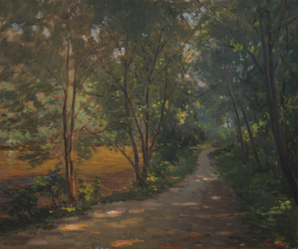 Forest Path, Oil on linen, 20x24 inches.