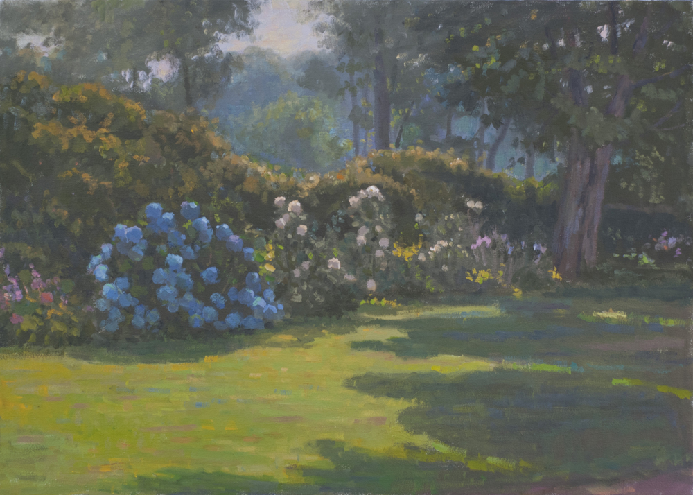 Front Lawn, Oil on canvas, 16x22 inches.