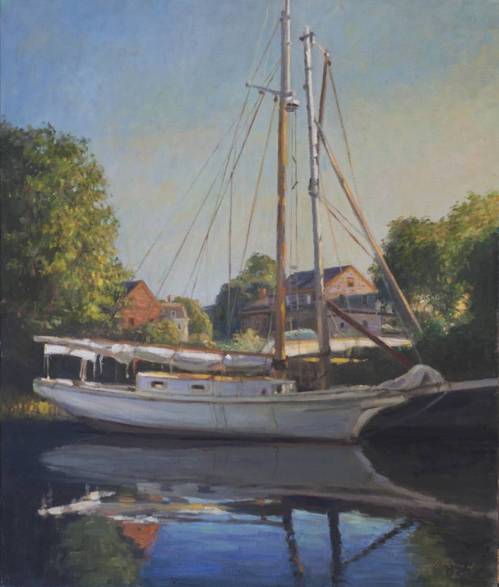 Boat Yard, Oil on linen, 24x20 inches.