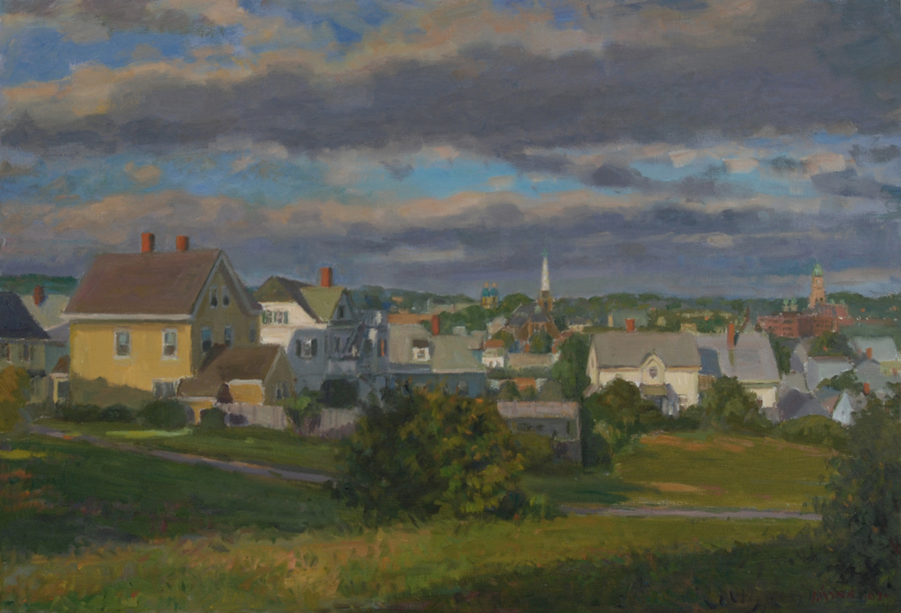Gloucester Summer View, Oil on canvas, 20x30 inches.