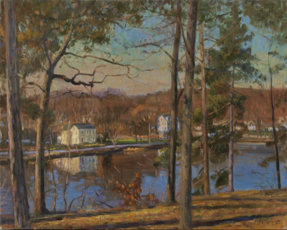 Fall River Scene, Oil on canvas, 22x28 inches. [sold]