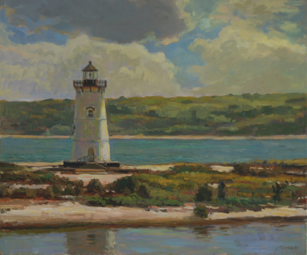 Light House Reflection, Oil on canvas, 20x24 inches. [sold]