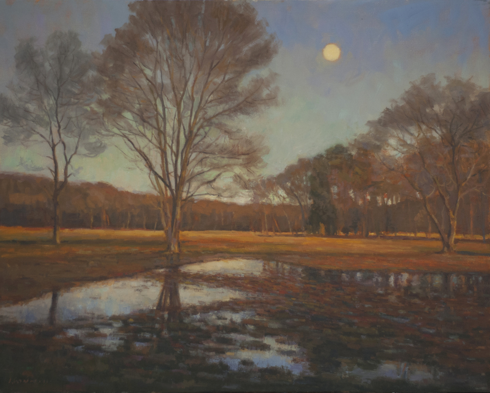 Fall Moon, Oil on linen, 24x30 inches.