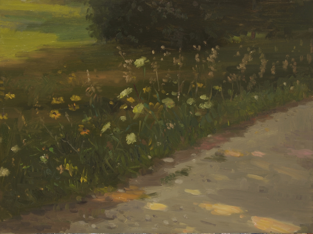Wild Flowers, Oil on board, 12x16 inches.